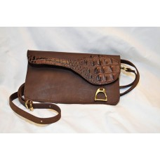 Crossbody Saddle Clutch Bag